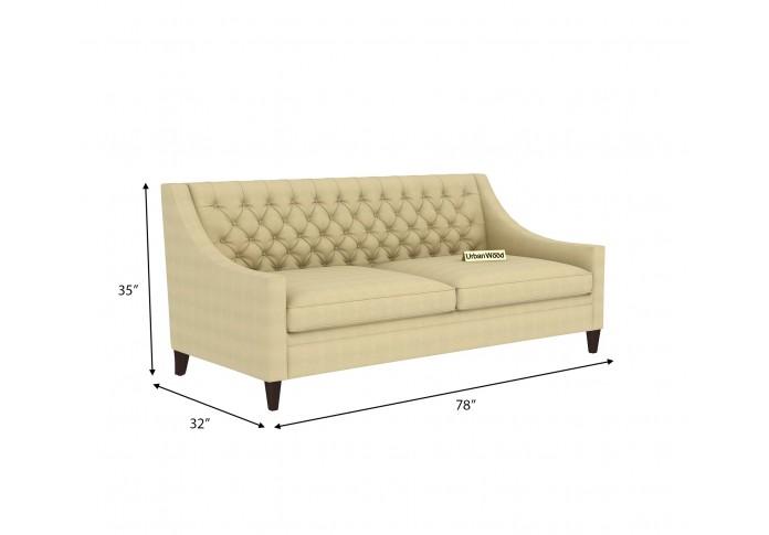 Curio 3 Seater Sofa <small>(Cotton, Sepia cream)</small>