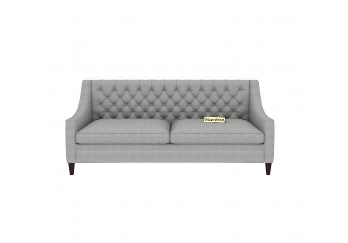 Curio 3 Seater Sofa (Cotton, Steel gray)