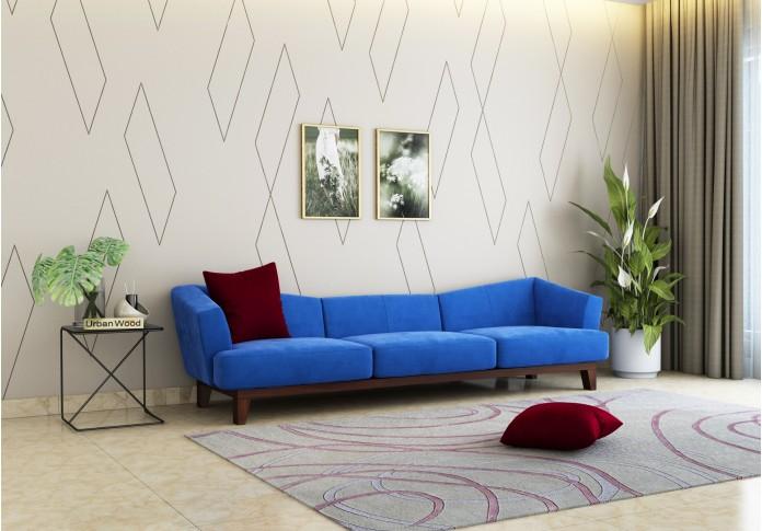 Fooze 3 Seater Sofa ( Velvet, Sapphire Blue )
