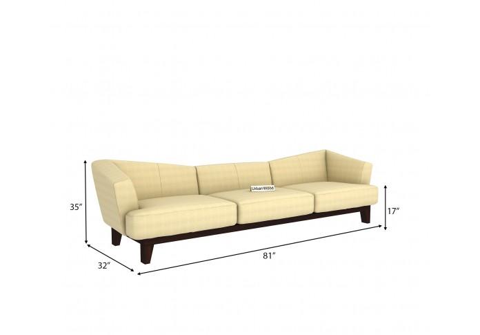 Fooze 3 Seater Sofa ( Cotton, Sepia Cream )