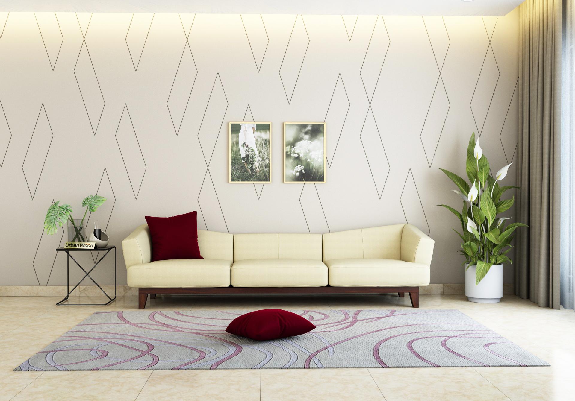 Fooze 3 Seater Sofa <small>( Cotton, Sepia Cream )</small>