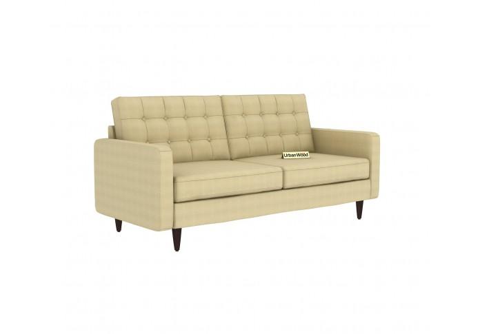 Hamper 3 Seater Sofa (Cotton, Sepia Cream)