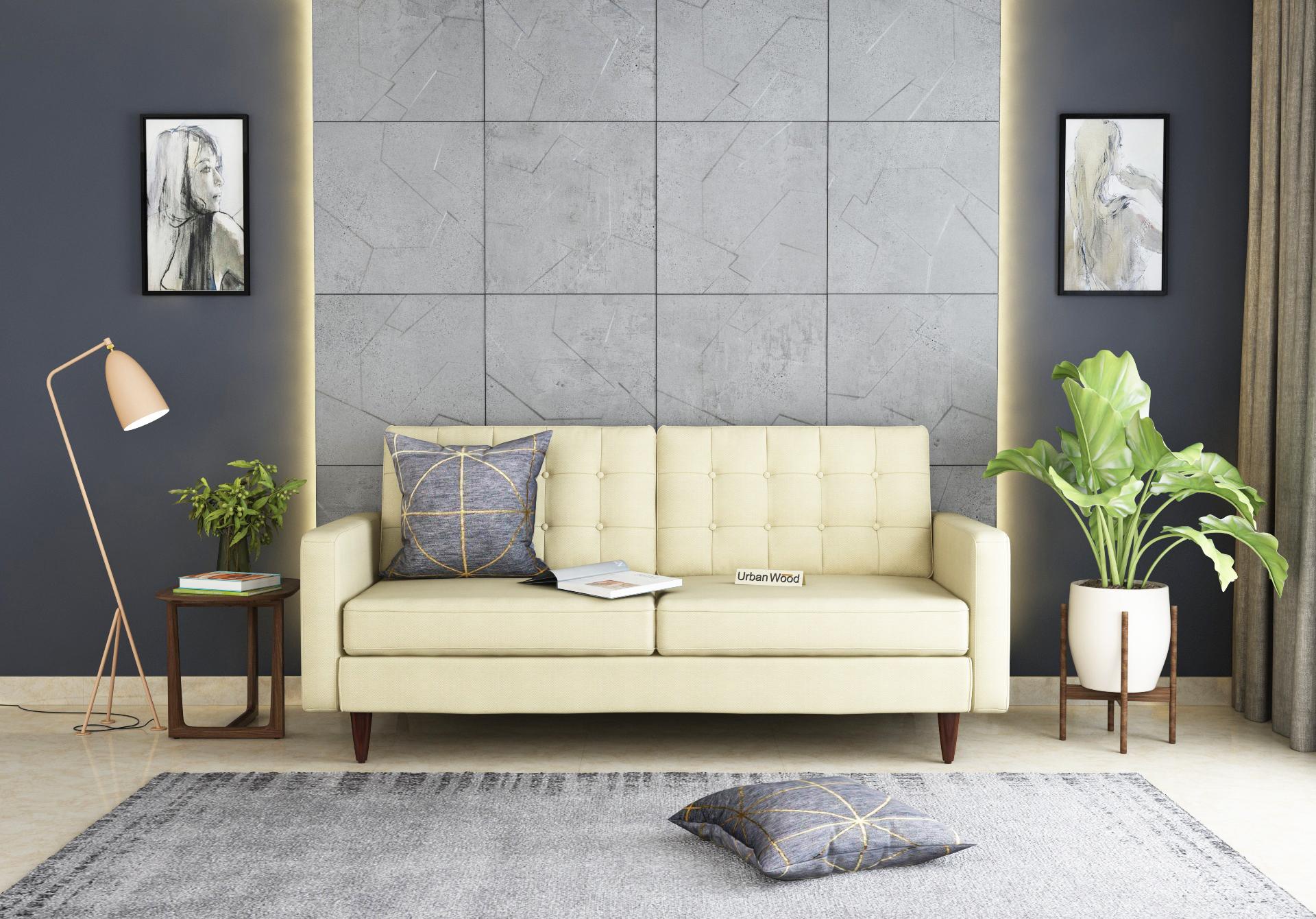 Hamper 3 Seater Sofa <small>(Cotton, Sepia Cream)</small>
