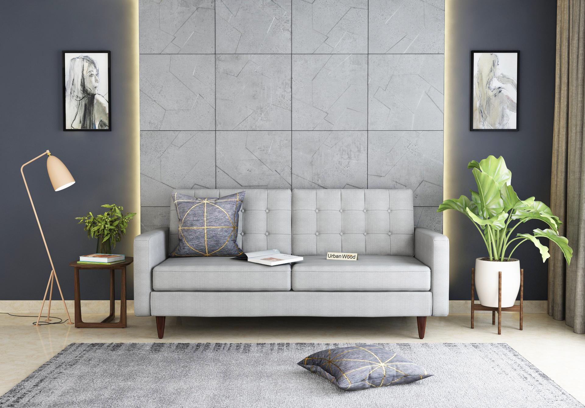 Hamper 3 Seater Sofa <small>(Cotton, Steel gray)</small>