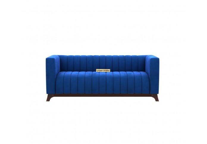 Lotus 3 Seater Sofa ( Velvet , Sapphire Blue )