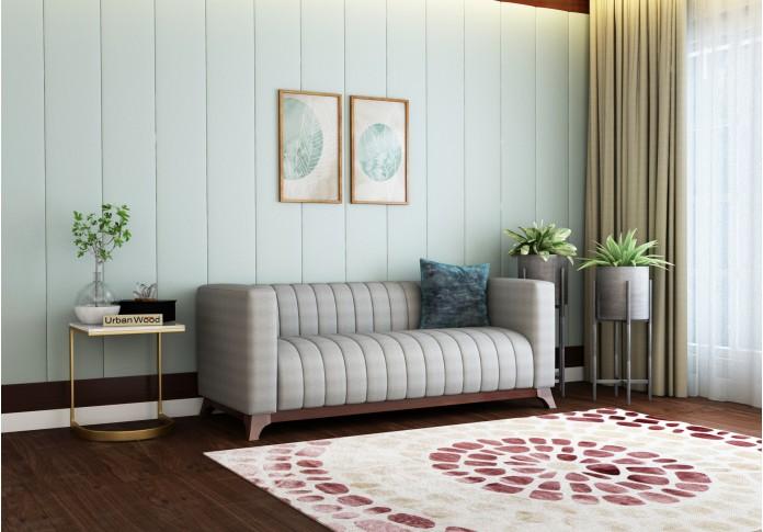 Lotus 3 Seater Sofa <small>( Cotton, Steel Grey )</small>