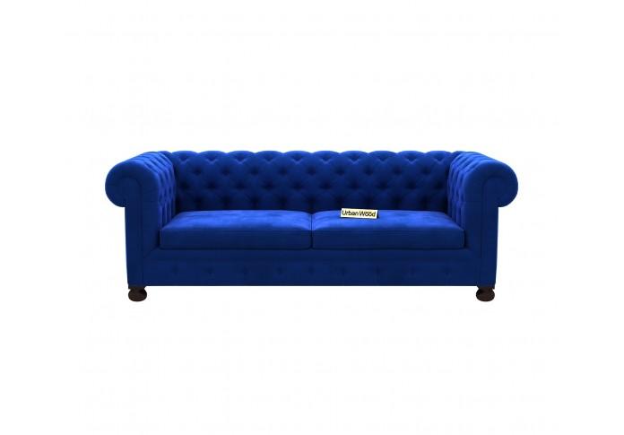 Regal 3 Seater Sofa <small>(Velvet, Sapphire blue)</small>