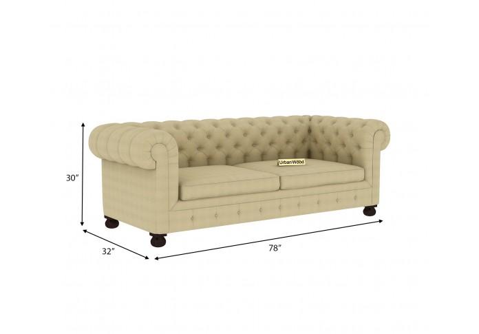 Regal 3 Seater Sofa <small>(Fabric, Sepia cream)</small>