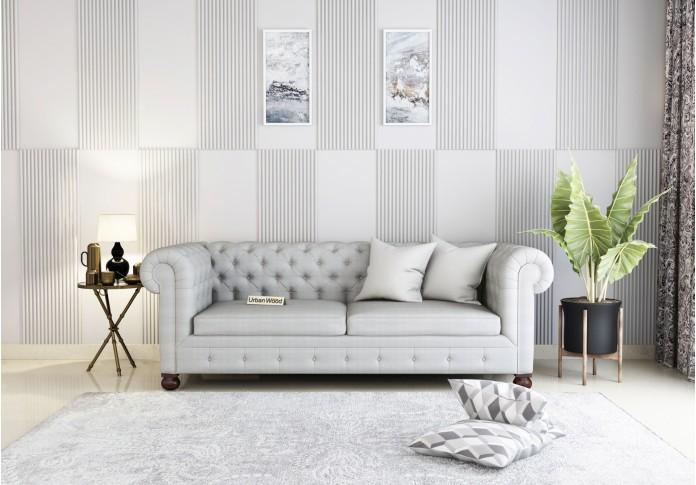 Regal 3 Seater Sofa <small>(Cotton, Steel gray)</small>