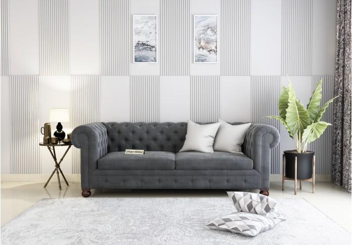 Regal 3 Seater Sofa <small>(Velvet, Stone gray)</small>