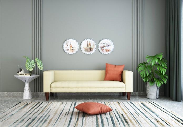 Roy 3 Seater Sofa <small>( Cotton, Sepia Cream )</small>