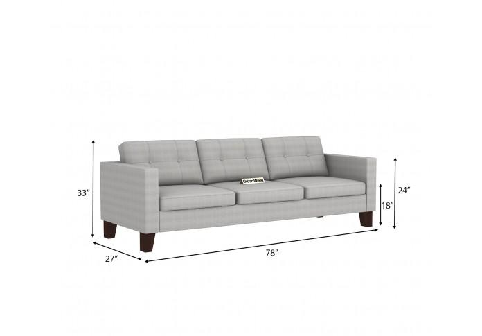 Shack 3 Seater Sofa ( Cotton, Steel Grey )