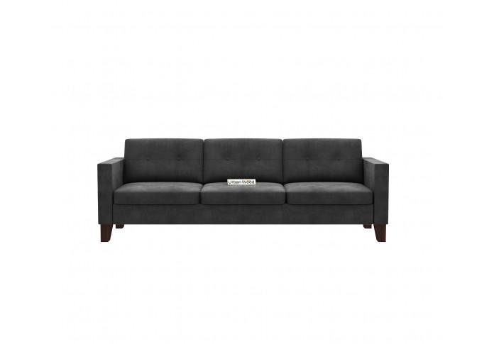 Shack 3 Seater Sofa  ( Velvet, Stone Grey )