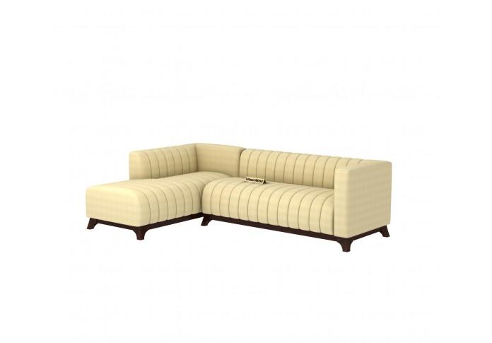 Barth L-Shaped Left Aligned Sofa <small>( Cotton, Sepia Cream )</small>
