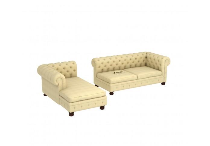 Beck L-Shaped Left Aligned Sofa <small>( Cotton, Sepia cream )</small>