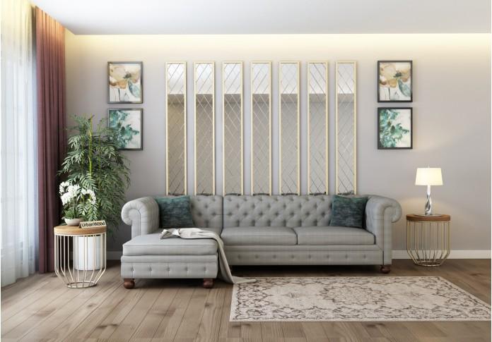 Beck L-Shaped Left Aligned Sofa ( Cotton, Steel grey )
