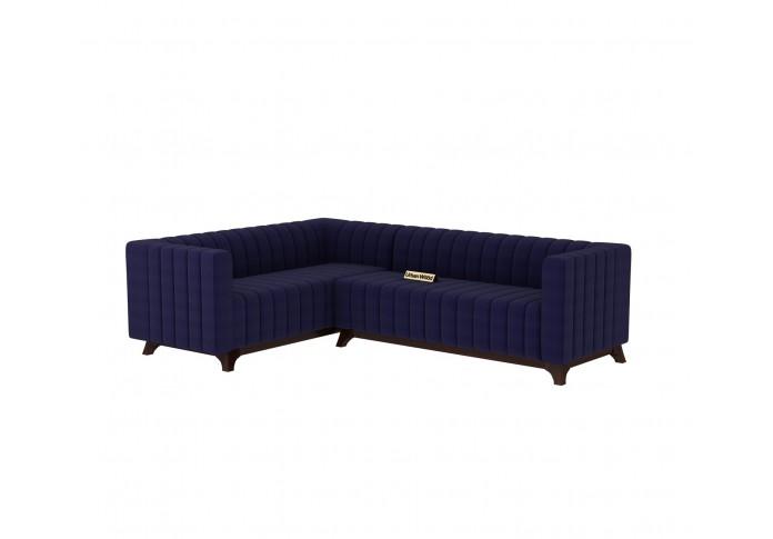 Jackson L-Shaped Left Aligned Sofa ( Cotton, Navy blue )