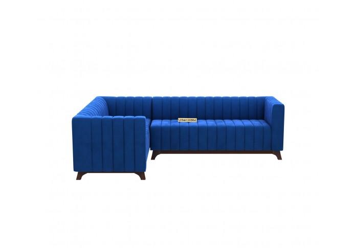 Jackson L-Shaped Left Aligned Sofa <small>( Velvet, Sapphire blue )</small>