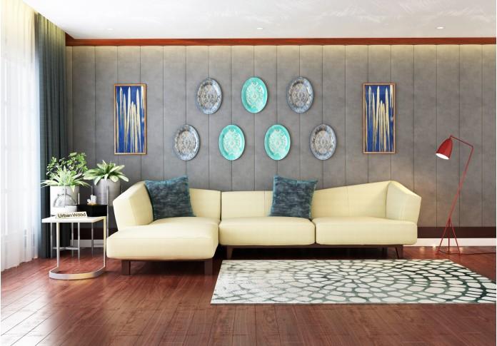 Keller L-Shaped Left Aligned Sofa <small>( Cotton, Sepia cream )</small>