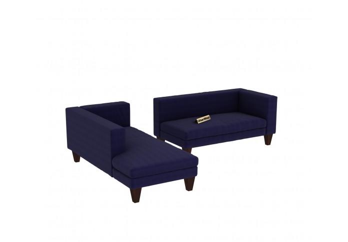Parker L-Shaped Left Aligned Sofa ( Cotton, Navy blue )