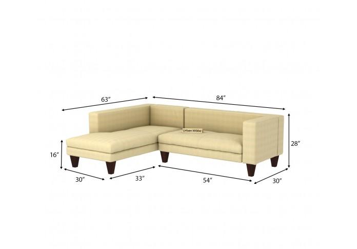 Parker L-Shaped Left Aligned Sofa <small>( Cotton, Sepia cream )</small>
