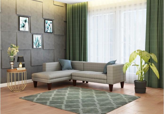 Parker L-Shaped Left Aligned Sofa ( Cotton, Steel grey )