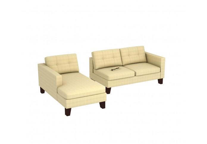 Paul L-Shaped Left Aligned Sofa ( Cotton, Sepia Cream)