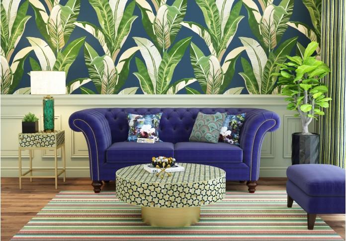 Lance Loveseats (Fabric, Navy Blue )