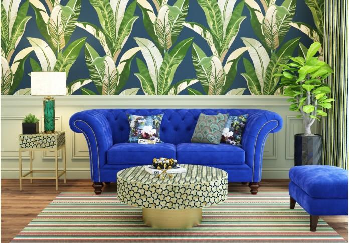 Lance Loveseats ( Fabric, Saphire Blue)