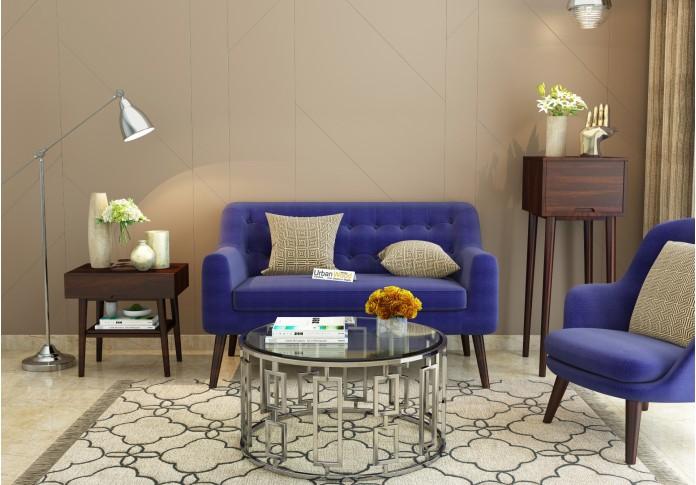 Orama Loveseats <small>(Fabric, Navy Blue)</small>