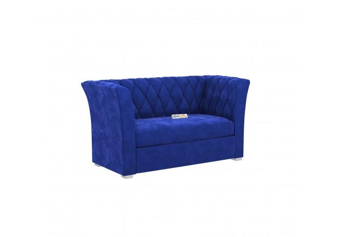 Zoid Loveseat (Velvet, Saphire Blue)
