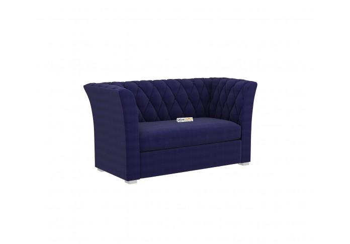 Zoid Loveseat (Cotton, Navy Blue)