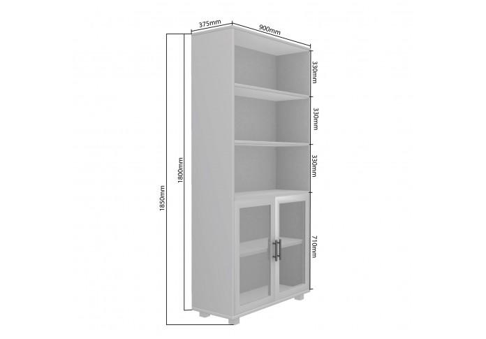 Ento Modular Bookshelf ( Frosty White )