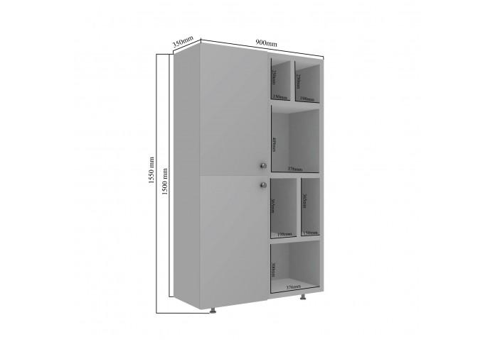 Ket Modular Bookshelf (Multicolor)