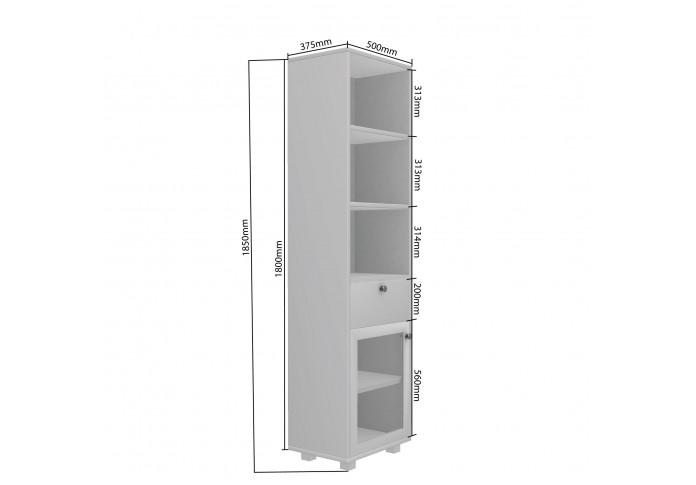 Stom Modular Bookshelf ( Frosty White )