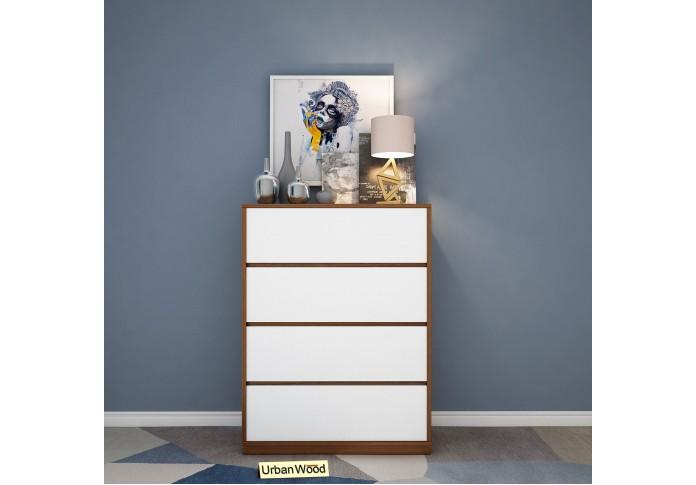 Ella Modular Chest Of Drawers (Walnut & Frosty White)