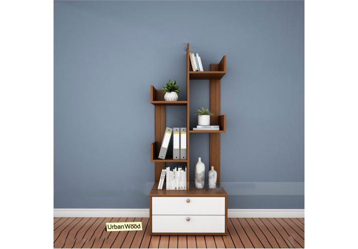 Oury Modular Bookshelf ( Forsty White, Walnut )