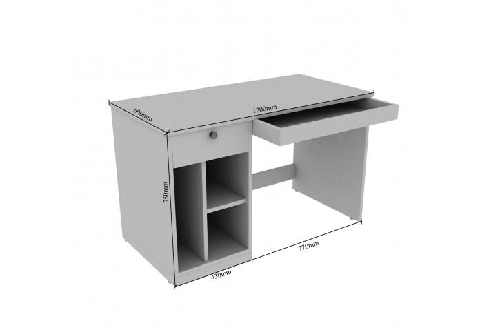 Axen Modular Study Tables <small>(Walnut)</small>