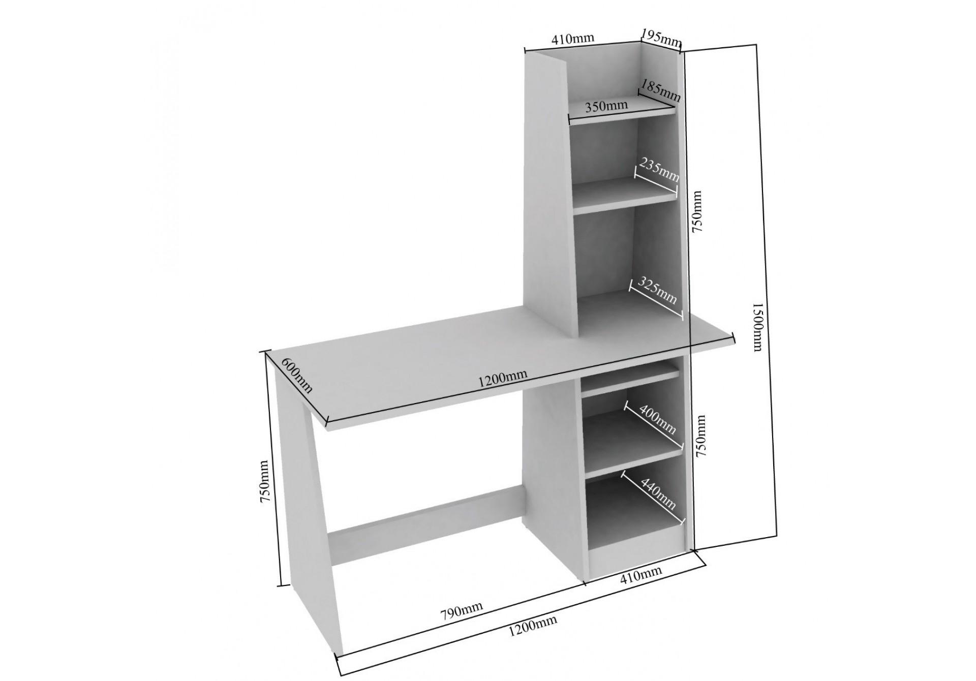 Genics Modular Study Tables <small>(Walnut)</small>