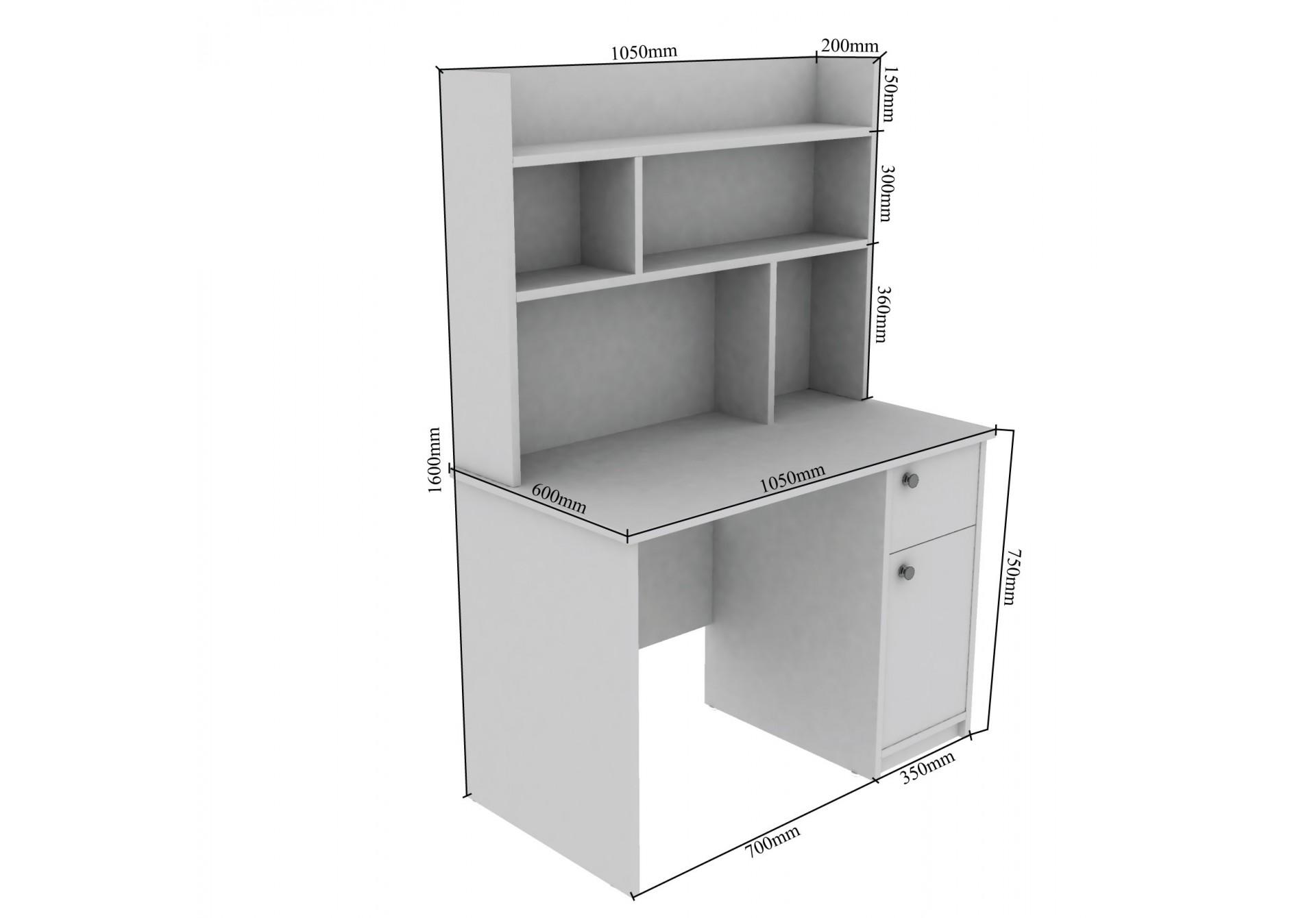 Lovus Modular Study Tables <small>(Walnut)</small>