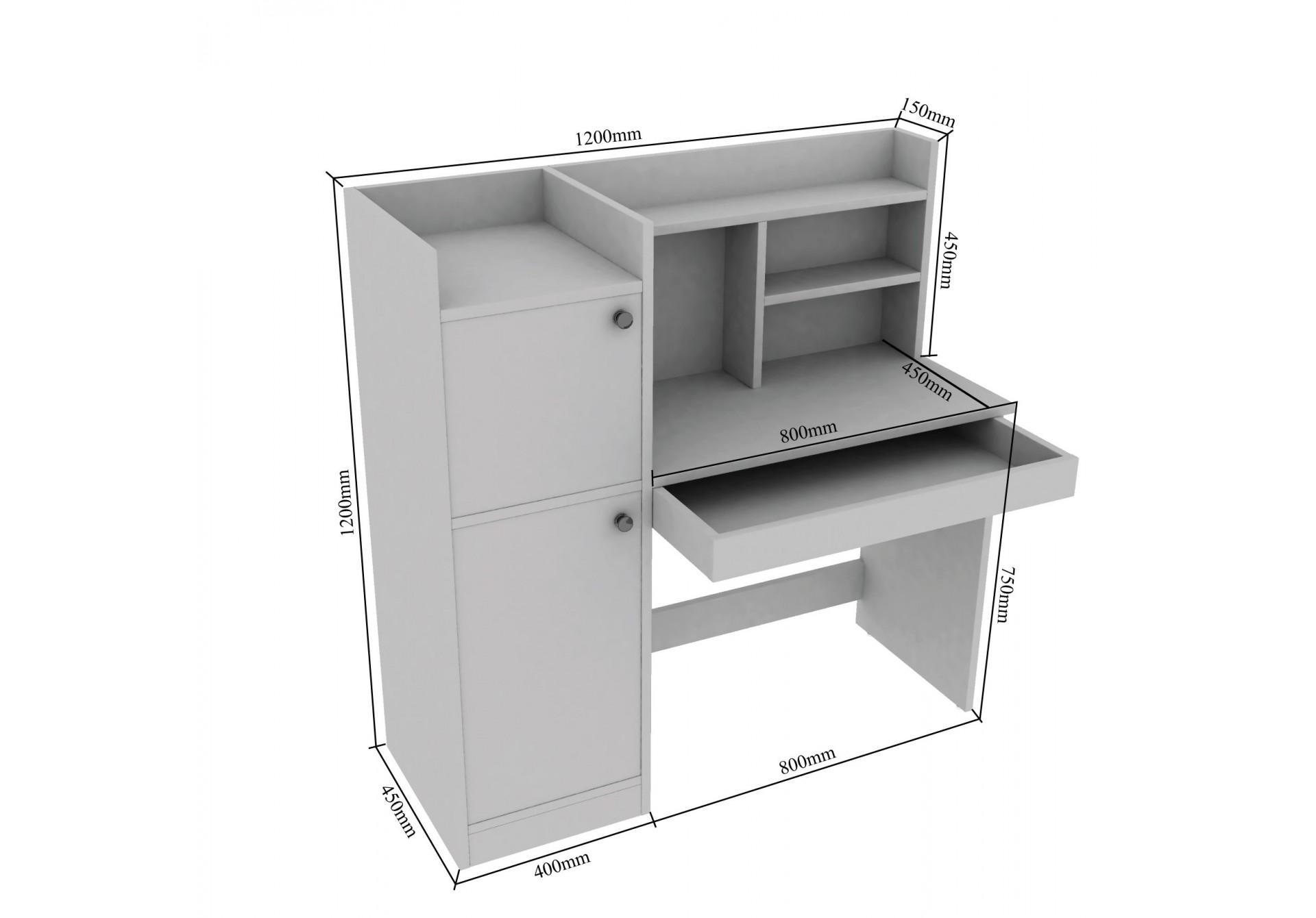 Pire Modular Study Tables <small>(Walnut)</small>