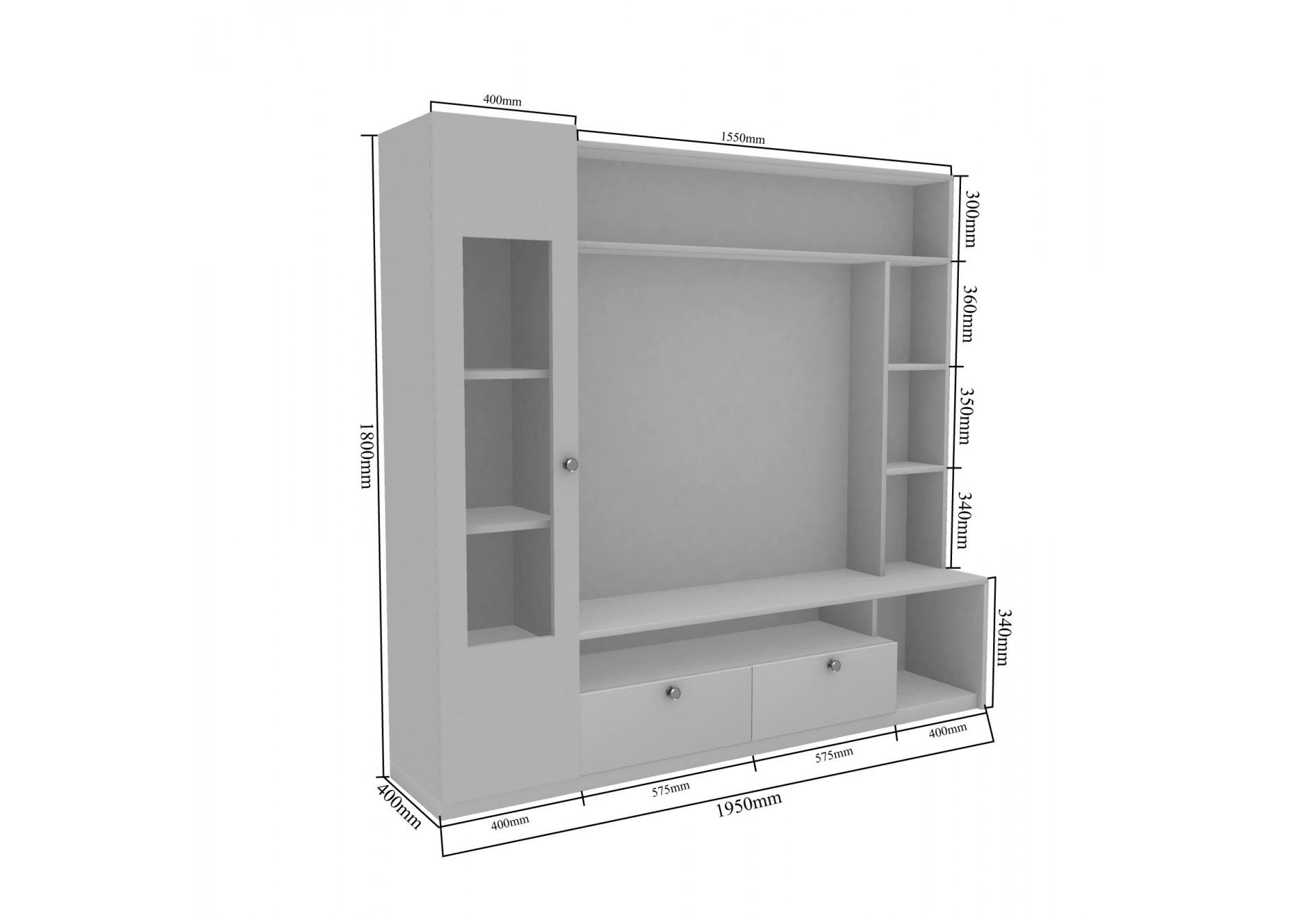 Bea Modular TV Units <small>( Frosty White )</small>