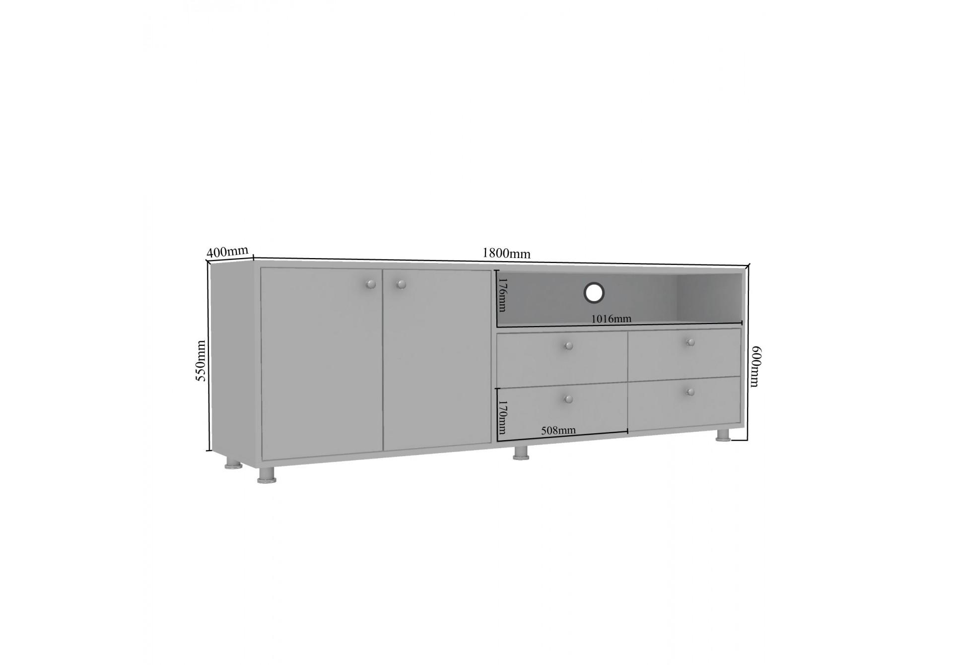 Dyn Modular TV Unit <small>( Frosty White )</small>