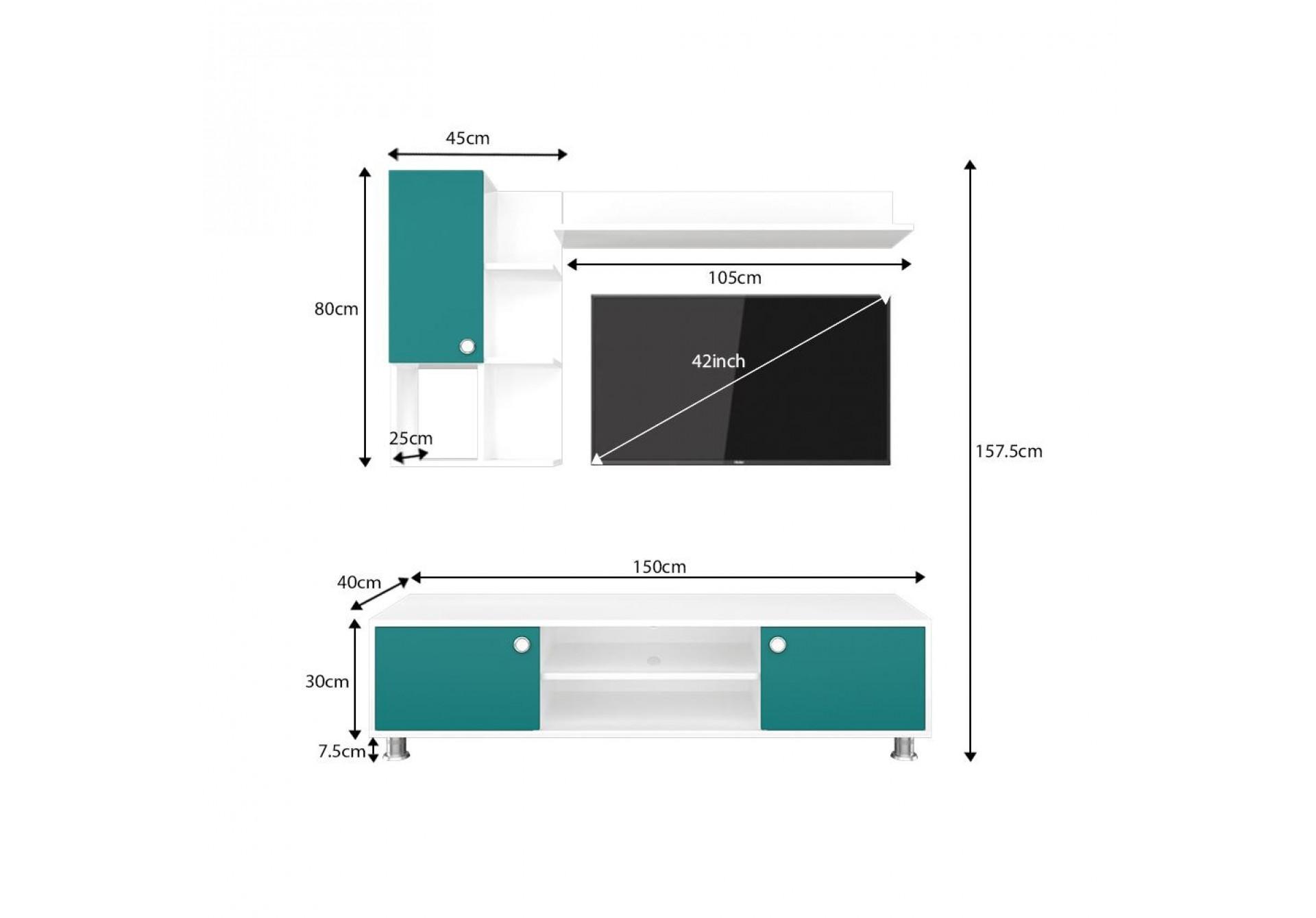 Sio Modular TV Units <small>( Ocean Green )</small>