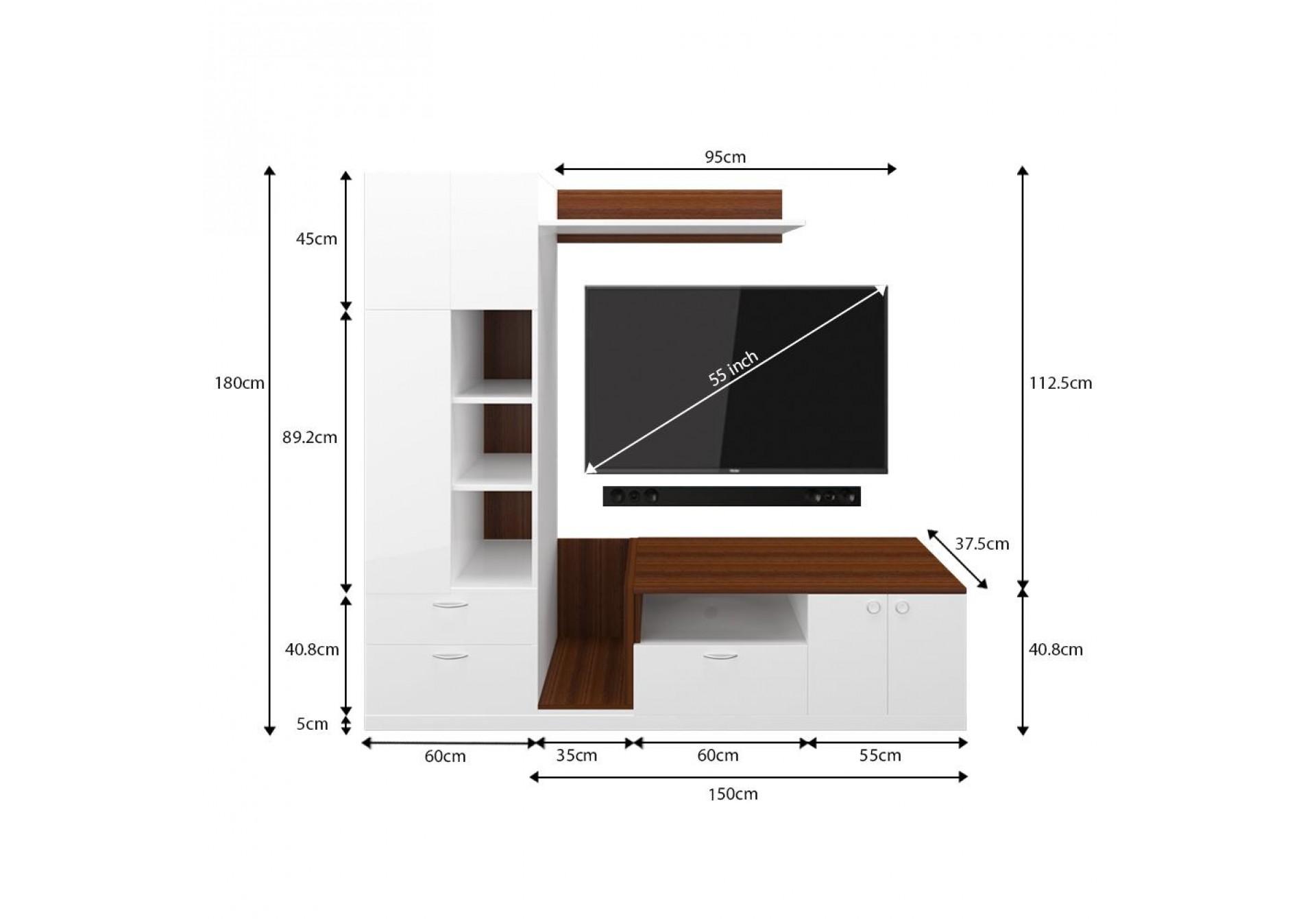 Vitto Modular TV Unit <small>( Frosty White )</small>