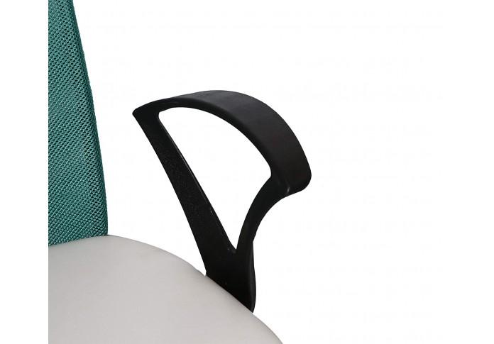 Milano Office Chair (Forsty White + Ocean Green)