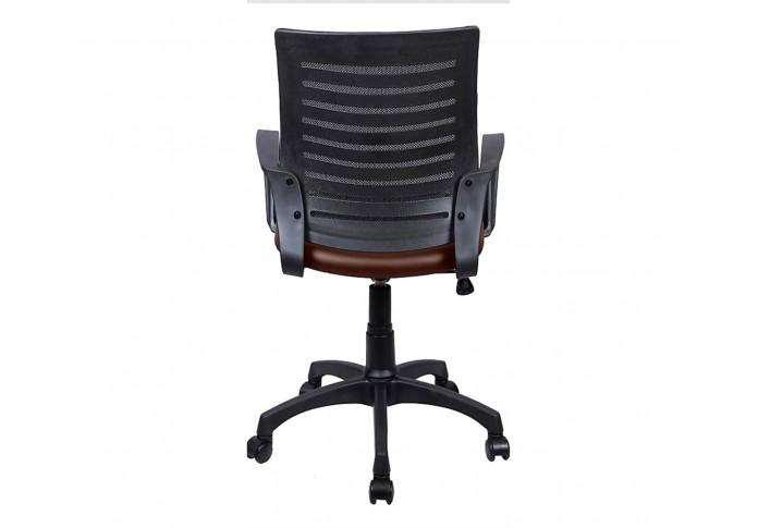Flet Office Chair (Black + Brown)