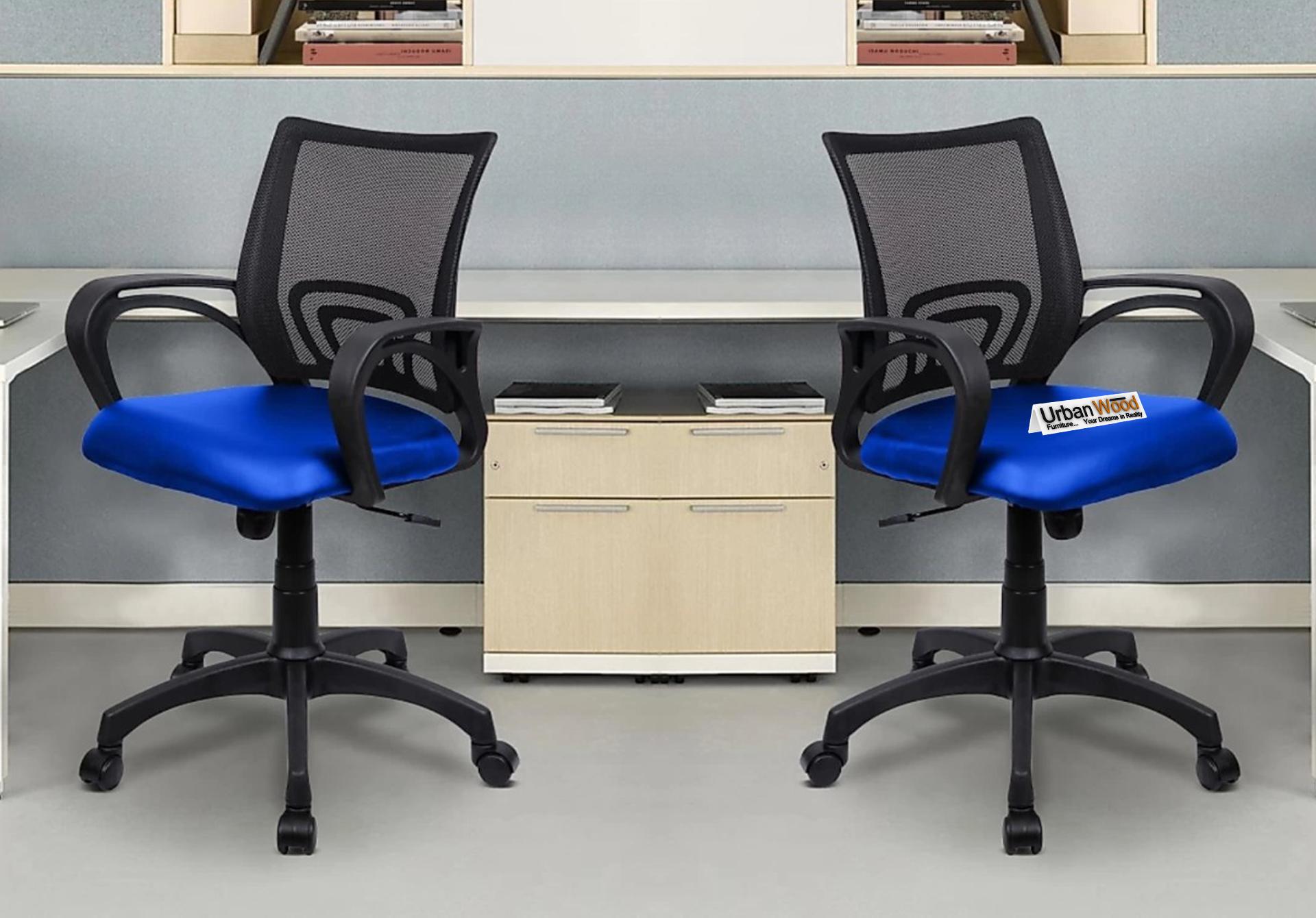 Jordan Office Chair <small>(Black + Royal Blue)</small>