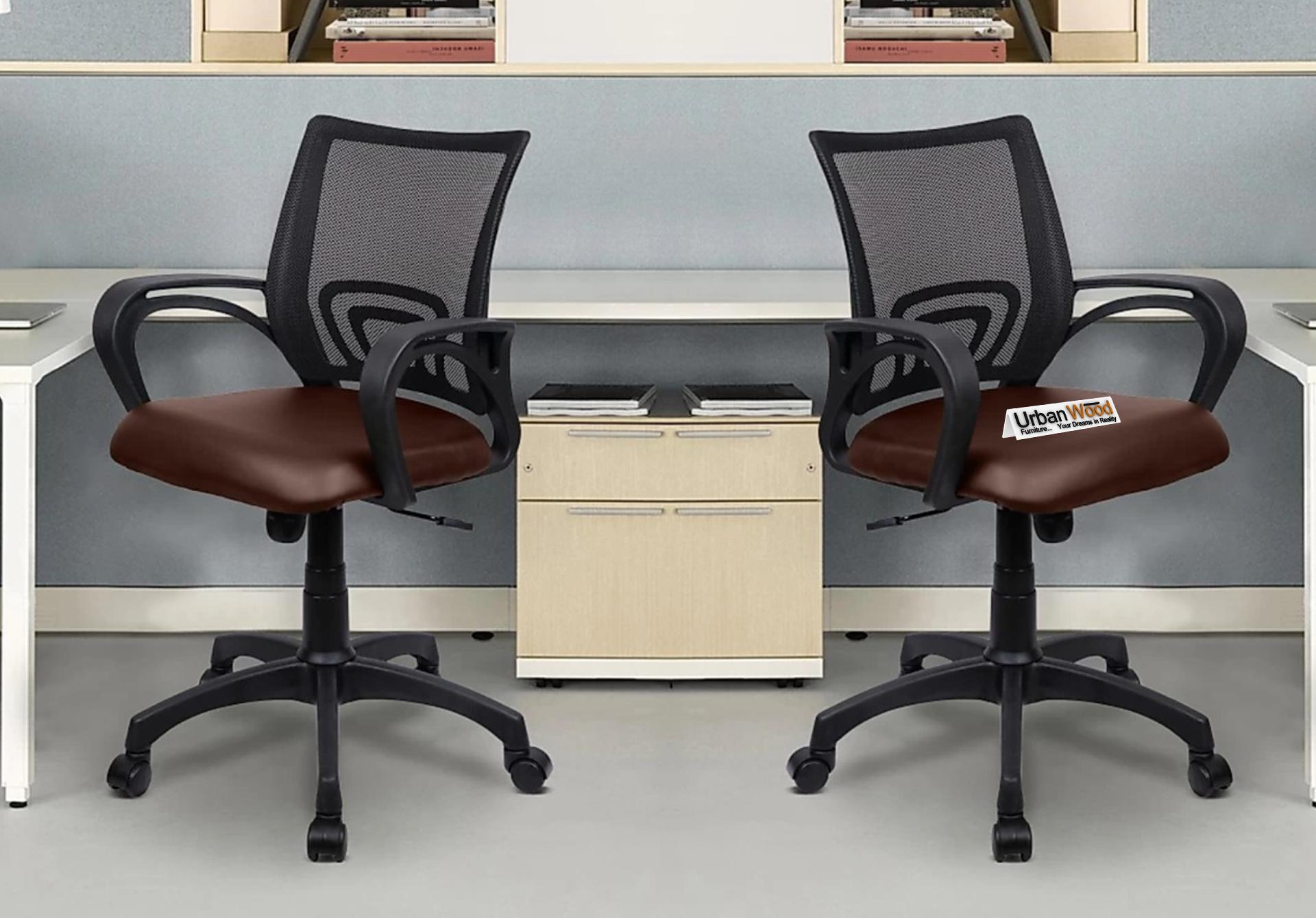 Morgan Office Chair <small>(Black + Brown)</small>