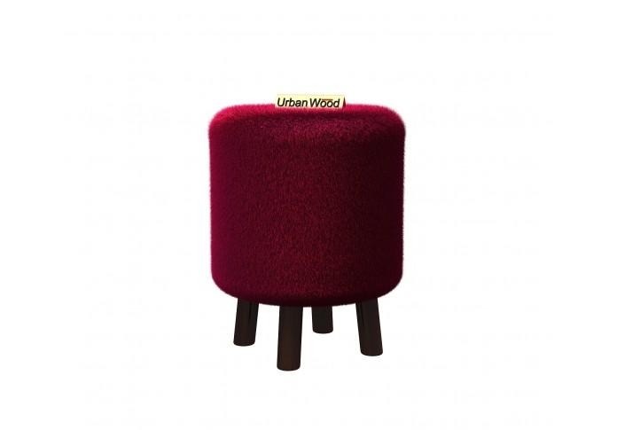 Fawn Upholstered Ottoman ( Velvet, Maroon )